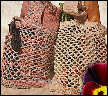 tricoter un filet a provision