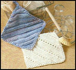 comment tricoter une lavette vaisselle