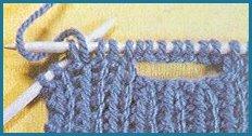 comment faire une boutonniere en tricot