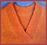 tricoter une encolure en v
