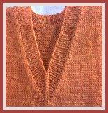 comment tricoter un col en v