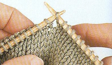 tricoter a l'endroit le brin avant et le brin arriere de la maille