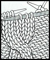 tricoter une torsade simple